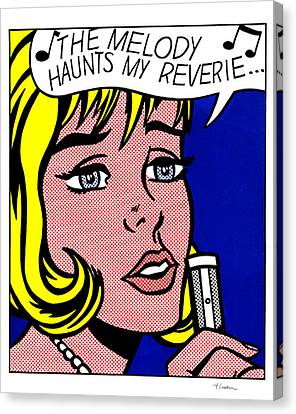 Reverie Canvas Print by Roy Lichtenstein