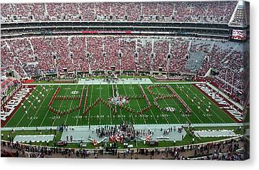 Reverse Bama Spell-out Canvas Print by Kenny Glover