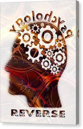 Reverse Psychology Canvas Print by Anastasiya Malakhova