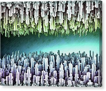 Reversible Futuristic Megalopolis City Canvas Print