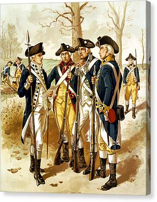 Revolutionary War Infantry Canvas Print by War Is Hell Store