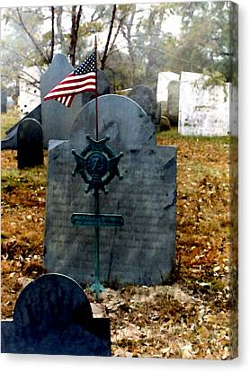 Headstones Canvas Print - Revolutionary War Vet by Paul Sachtleben