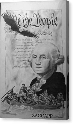 Revolutionary War Canvas Print by Zachary  Capodici