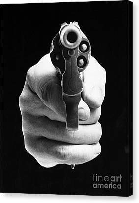 Revolver Aimed At You Canvas Print by Granger