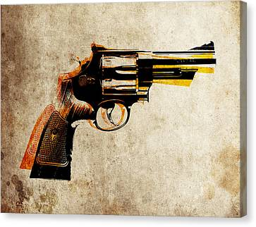 Pistol Canvas Print - Revolver by Michael Tompsett