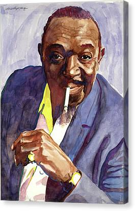 Rex Stewart Jazz Man Canvas Print by David Lloyd Glover