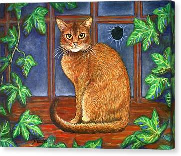 Rex The Cat Canvas Print by Linda Mears