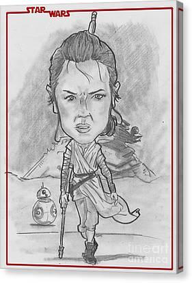 Rey The Force Awakens Canvas Print by Chris DelVecchio