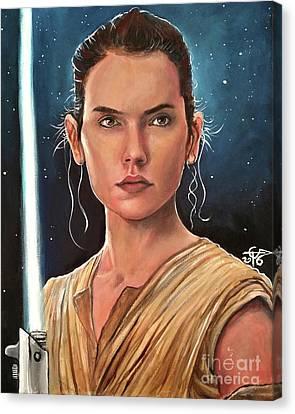 Rey Canvas Print by Tom Carlton