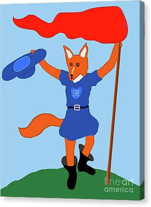 Canvas Print featuring the painting Reynard The Fairy Tale Fox by Marian Cates