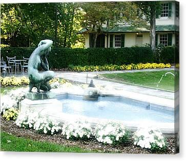 Reynolda Fountain Canvas Print by Scarlett Royal