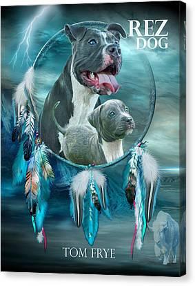 Rez Dog Cover Art Canvas Print by Carol Cavalaris