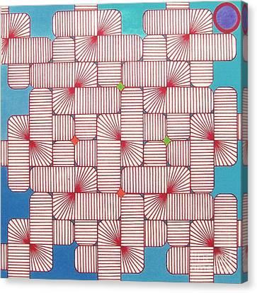 Rfb1006 Variation IIi Diagonal Canvas Print by Robert F Battles