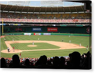 Rfk Stadium Canvas Print by Lance Freeman