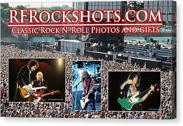 Rfrockshots Classic Rock N Canvas Print by Rich Fuscia