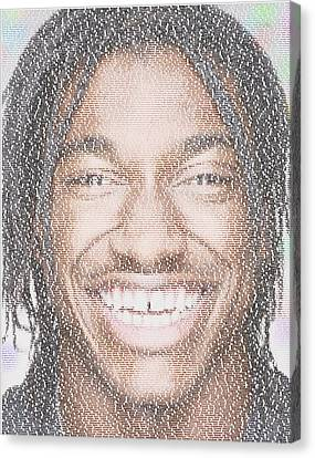 Rg3 Greatest Redskins Mosaic Canvas Print