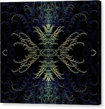 Rhapsody In Blue And Gold Canvas Print