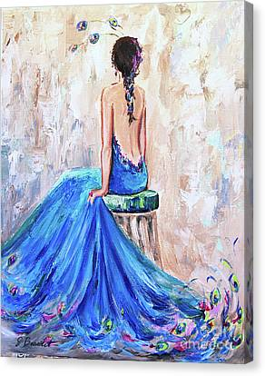 Canvas Print featuring the painting Rhapsody In Blue by Jennifer Beaudet