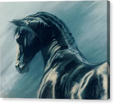 Rhapsody In Blue Canvas Print by Kim McElroy