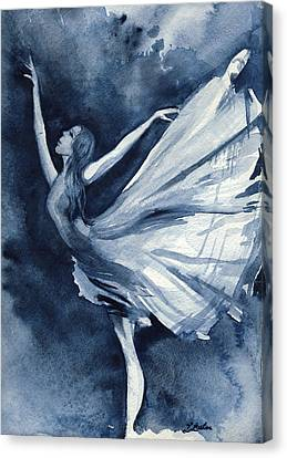 Rhapsody In Blue Canvas Print by L Lauter