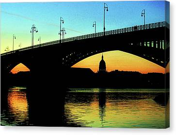 Rhine At Sunset Canvas Print