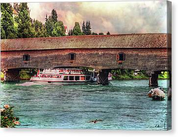 Canvas Print featuring the photograph Rhine Shipping by Hanny Heim