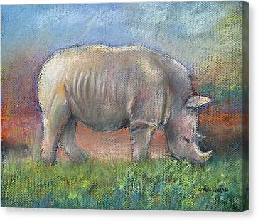 Rhino Canvas Print by Arline Wagner
