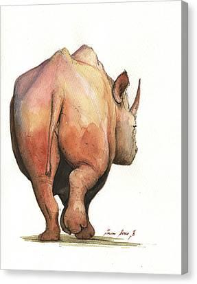 Rhino Back Canvas Print