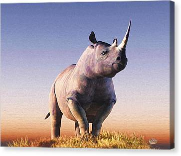 Rhino Canvas Print by Daniel Eskridge