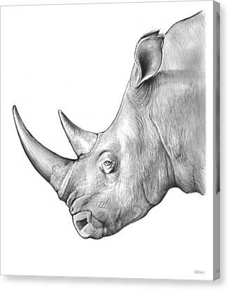 Rhino Canvas Print by Greg Joens