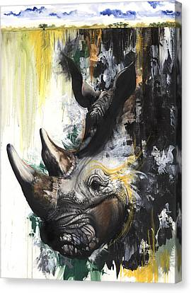 Rhino II Canvas Print by Anthony Burks Sr