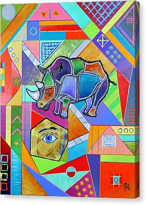 Rhinoceros Part-ies Canvas Print