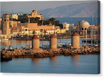 Rhodes Harbour 1 Canvas Print