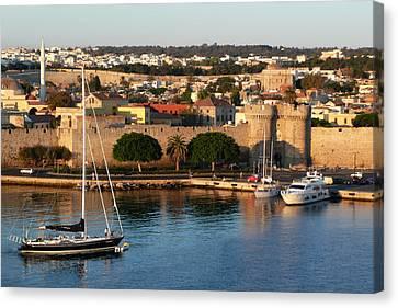 Rhodes Harbour 2 Canvas Print