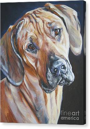 Rhodesian Ridgeback Canvas Print by Lee Ann Shepard