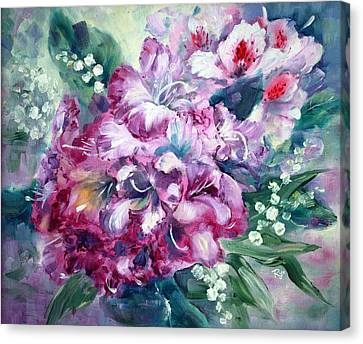 Rhododendron And Lily Of The Valley Canvas Print