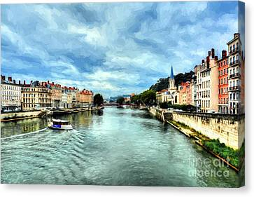Rhone River In France Canvas Print
