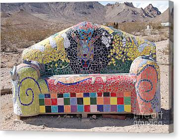 Canvas Print featuring the photograph Rhyolite Sofa by Walter Chamberlain