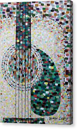 Rhythm Guitar Canvas Print by Denise Landis