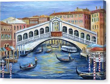 Canvas Print - Rialto Bridge Venice by Marilyn Dunlap