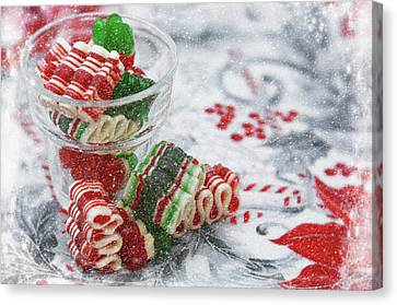 Canvas Print featuring the photograph Ribbon Candy by Diane Alexander