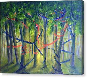 Ribbon Dance Canvas Print