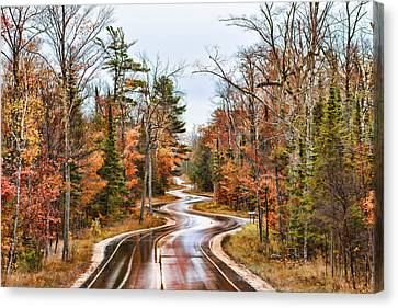 Ribbon Road Canvas Print by Bonnie Phillips