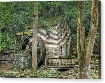 Canvas Print featuring the photograph Rice Grist Mill 2017 by Douglas Stucky
