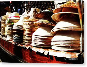 Rice Hats Canvas Print
