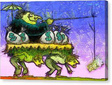 Rich And Poor - Da Canvas Print by Leonardo Digenio
