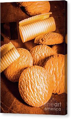 Rich Buttery Shortbread Biscuits Canvas Print by Jorgo Photography - Wall Art Gallery