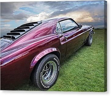 Rich Cherry - '69 Mustang Canvas Print