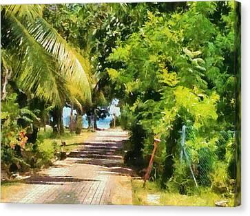 Rich Green Path Canvas Print