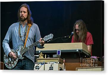Rich Robinson And Adam Macdougall With The Black Crowes Canvas Print